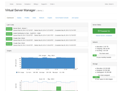 Cloud server manager dashboard
