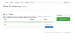 Cloud server manager profiles